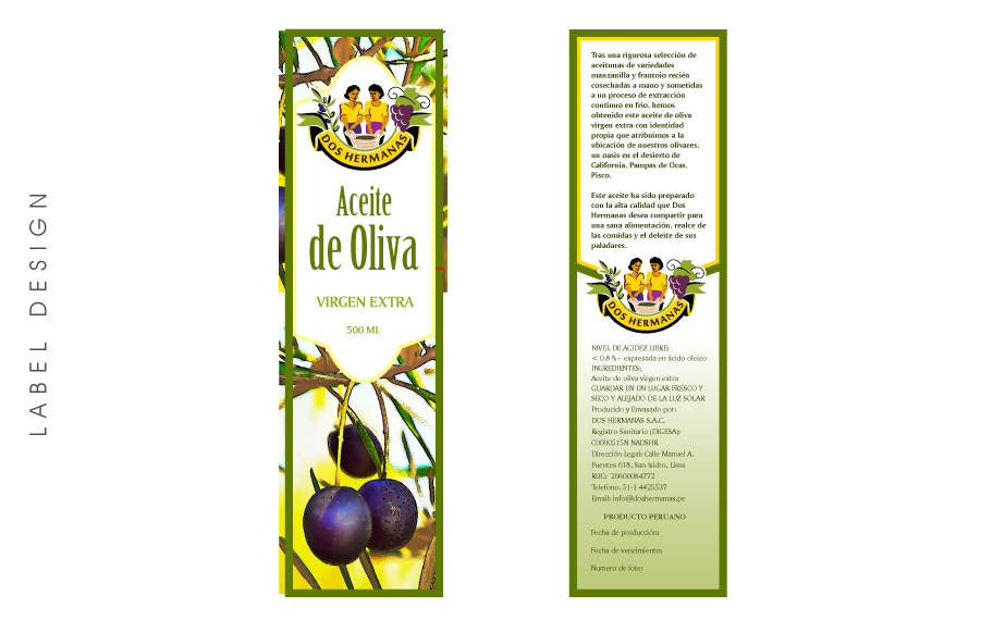 Label Design Aceite