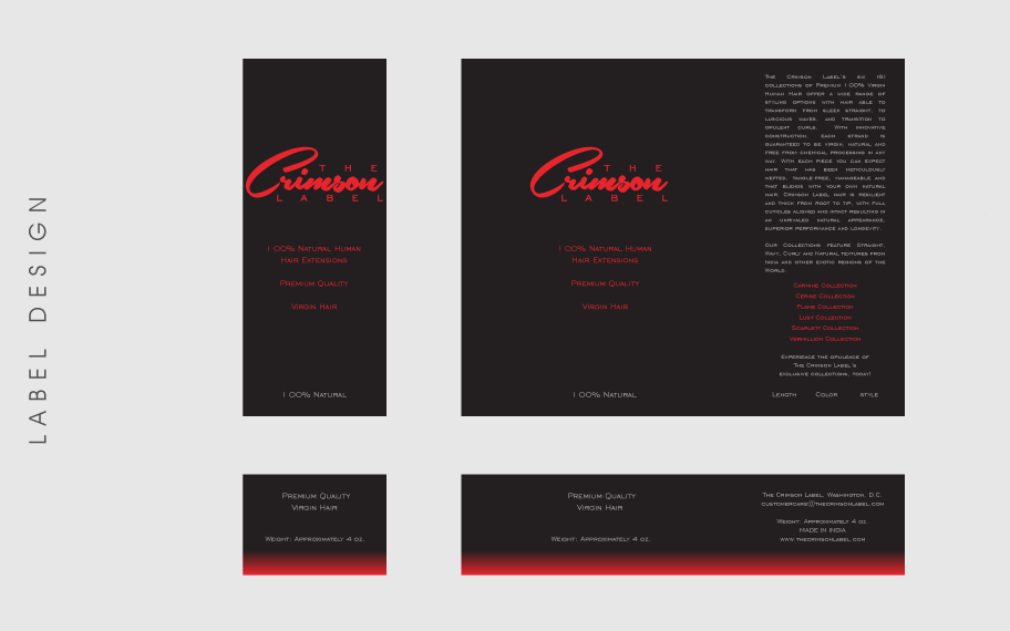 Label Design Crimson