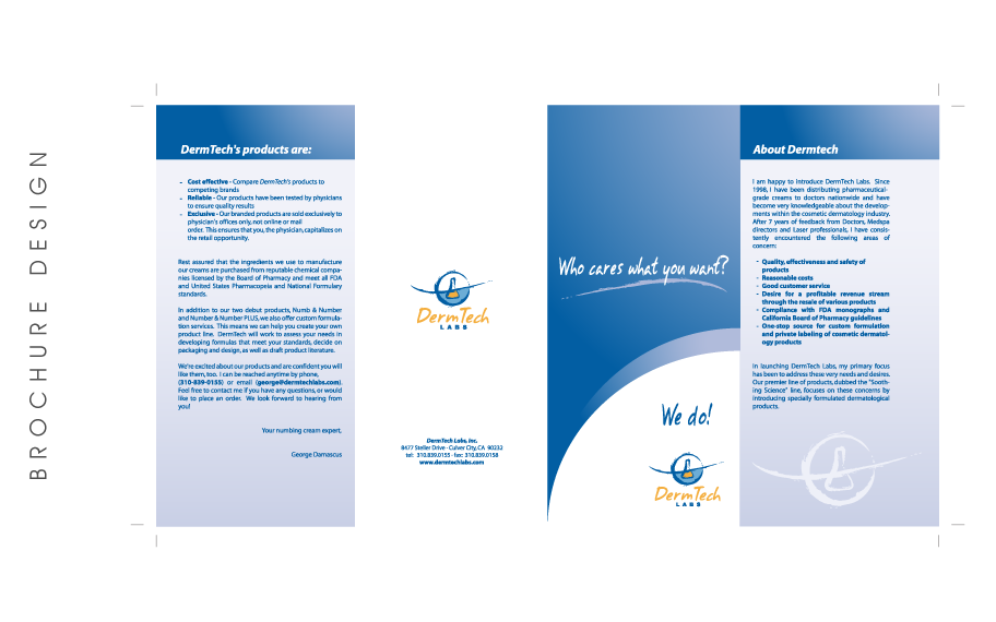 Brochure Design Dermtech