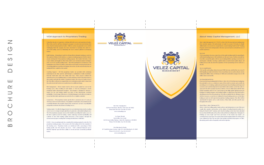 Brochure Design Velez Capital