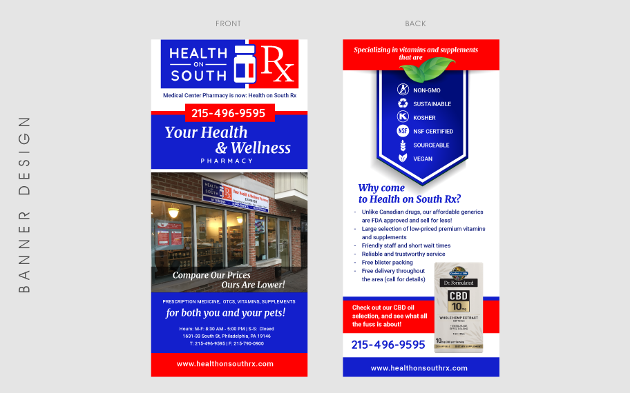 Design graphique Health on South banner