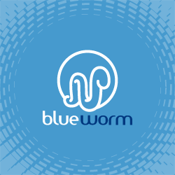 Logo Design Blueworm