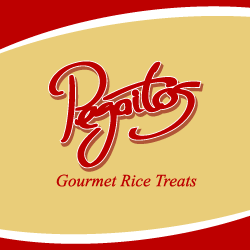 Logo Design Pegaitos Gourmet Rice Treats