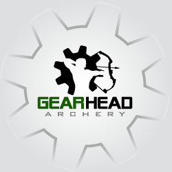 conception de logo Gearhead Archery