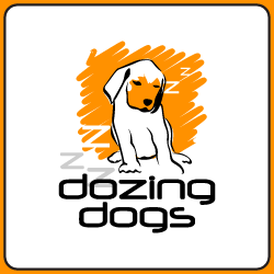 Logo Design Dozing Dogs