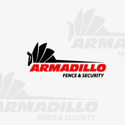 Logo Design Armadillo Fence And Security