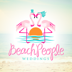conception de logo Beach People Weddings