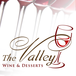 conception de logo The Valley – Wine & Desserts