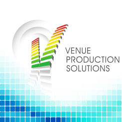 conception de logo Venue Production Solutions