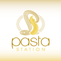 conception de logo pasta station