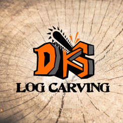 logo design DKS Log Carving