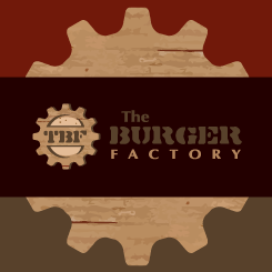 conception de logo The Burger Factorty