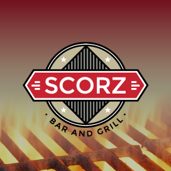 conception de logo Scorz Bar and Grill