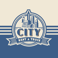 conception de logo City Rent A Truck