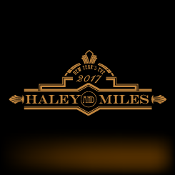 logo design Haley and Miles New Year's Eve