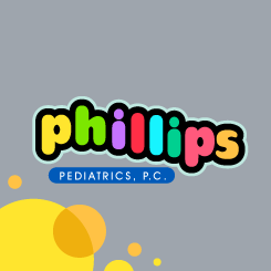 logo design PHILLIPS PEDIATRICS