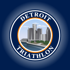 logo design DETROIT TRIATHLON