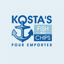 conception de logo KOSTA'S FISH AND CHIPS