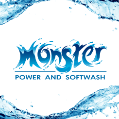 logo design Monster Power and Softwash