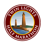 Twin Lights half marathon Logo
