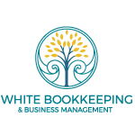 White Bookkeeping & Business Management Logo