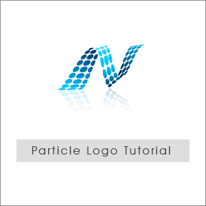 particle logo desin