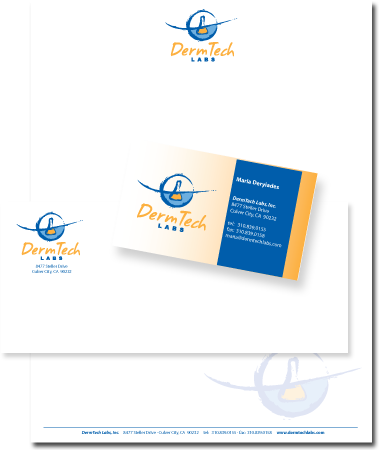 Stationery Design DermTech Labs