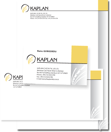 Stationery Design Kaplan