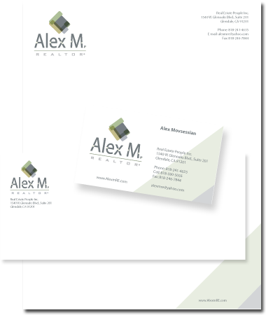 Stationery Design Alex M. Realtor