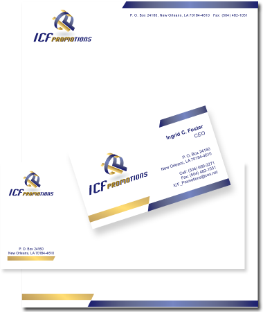 Stationery Design ICF Promotions