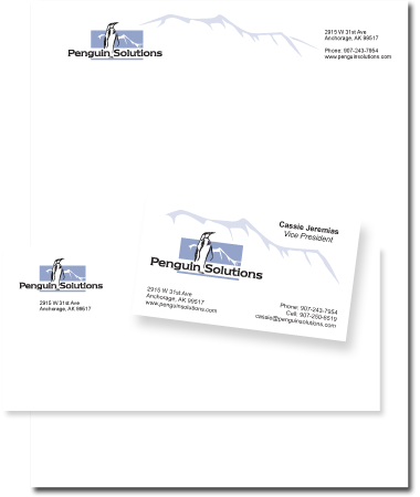 Stationery Design Penguin Solutions