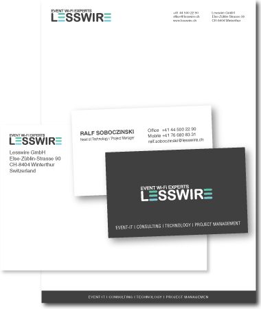Stationery Design Lesswire