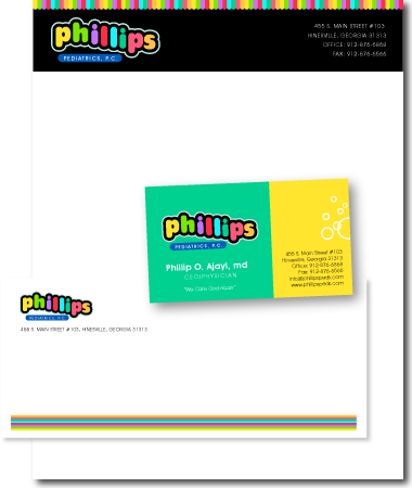 Stationery Design Phillips Pediatrics