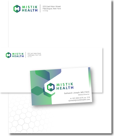 Stationery Design mistic health
