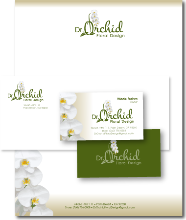 Stationery Design Dr Orchid