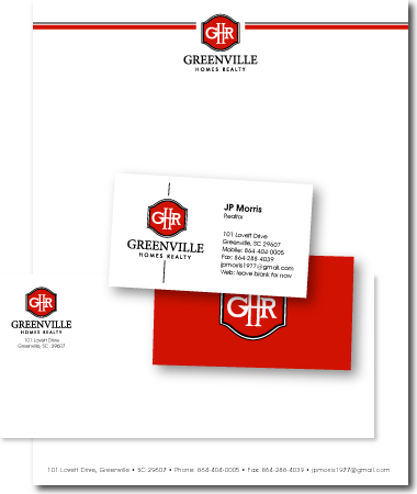 Stationery Design Greenville Home Realty