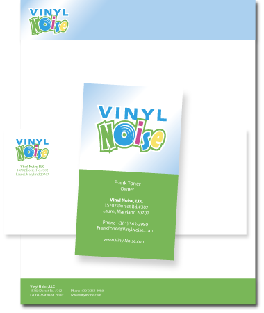 Stationery Design Vinyl Noise