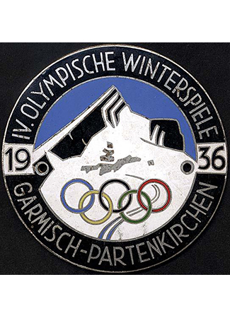 Olympics logo Garmisch-Partenkirchen Germany 1936 winter