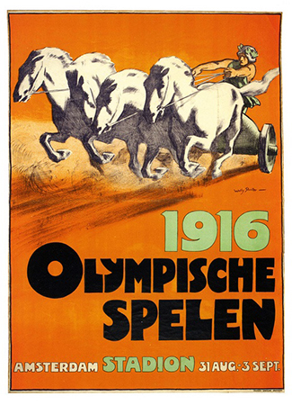 Olympics logo Berlin Germany 1916 summer