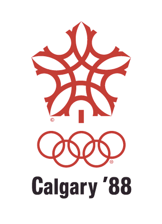 Olympic logo Calgary Canada 1988 winter