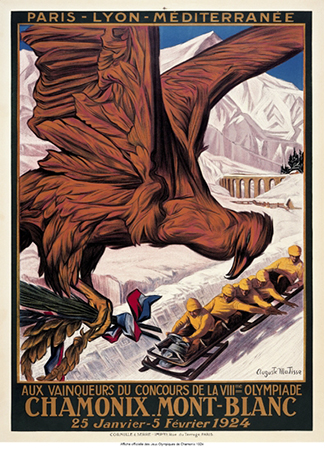 Olympics logo Chamonix France 1924 winter