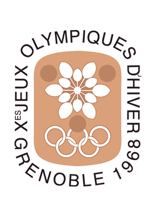 Olympics logo Grenoble France, 1968 winter