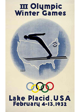 Olympics logo Lake Placid USA 1932 winter