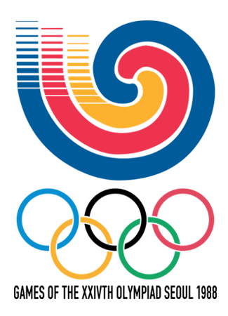 Olympics logo Seoul South Korea 1988 summer
