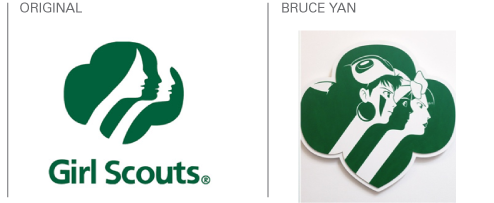 bruce yan gives familiar logo designs a cartoon makeover