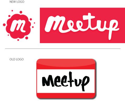 Meetup S New Logo Beyond The Nametag Logo Design Blog