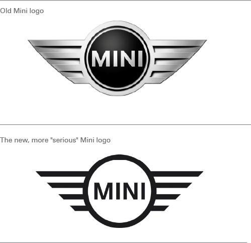 new logo design for a new, more serious mini - logo design blog