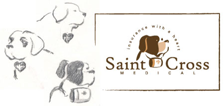 Saint Cross Medical logo design