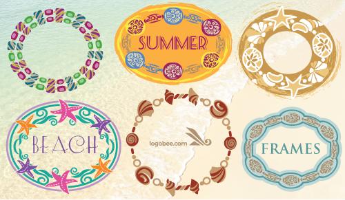 6 free summer-themed frames - Logo Design Blog   Logobee